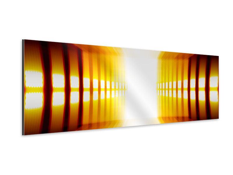 Aluminiumbild Panorama Abstrakter Goldener Raum