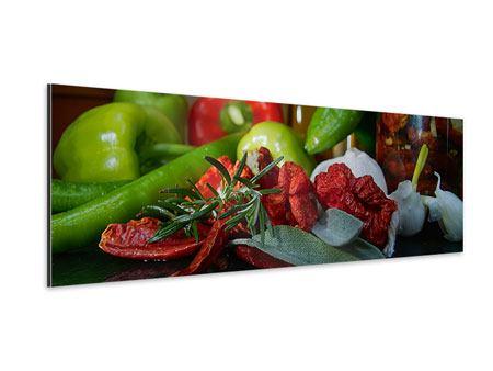 Aluminiumbild Panorama Mediterranes Gemüse
