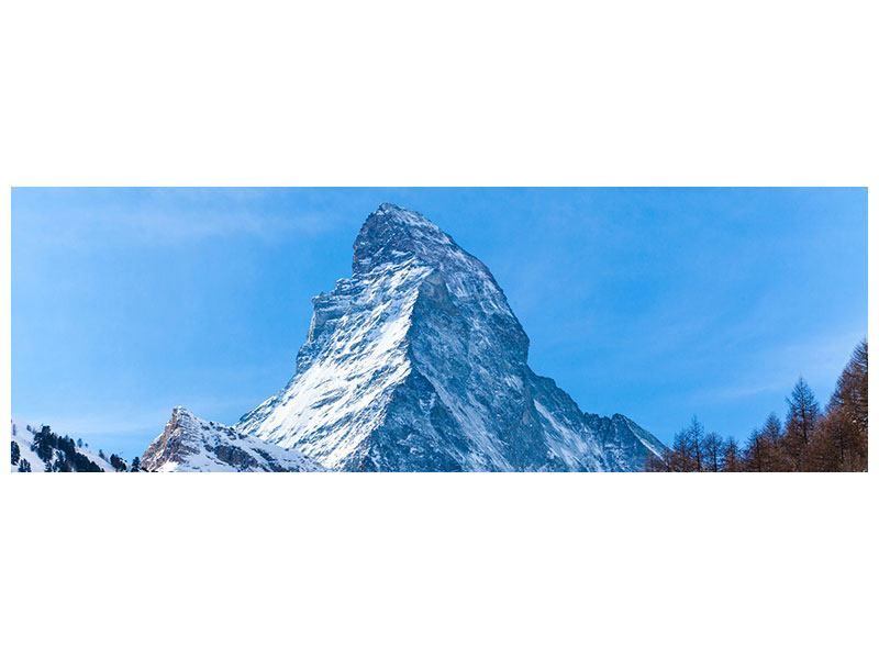 Aluminiumbild Panorama Das majestätische Matterhorn