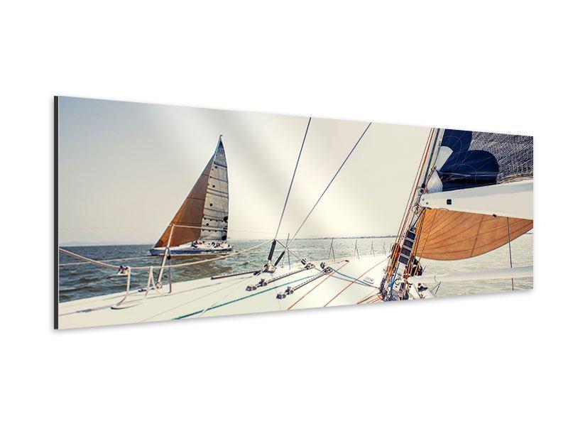 Aluminiumbild Panorama Segelyacht