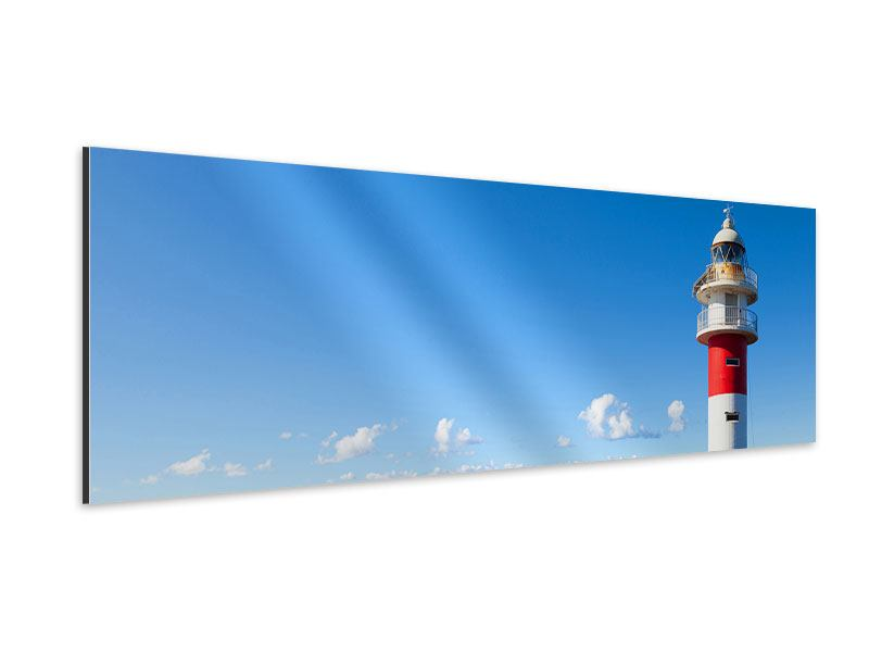 Aluminiumbild Panorama Leuchtturm in Punta Teno