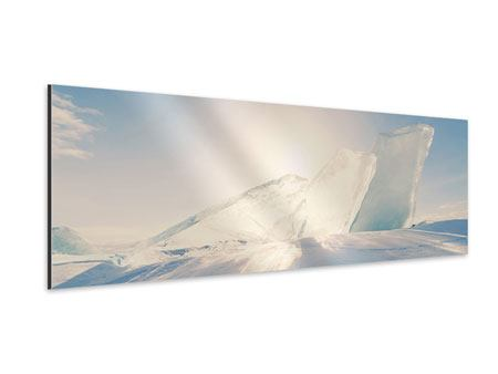 Aluminiumbild Panorama Eislandschaft