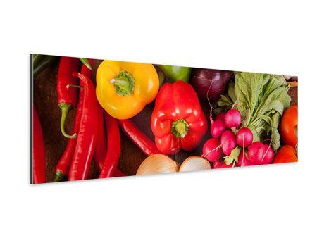 Aluminiumbild Panorama Gemüsefrische