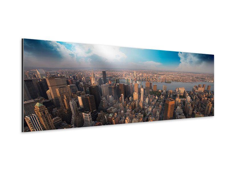 Aluminiumbild Panorama Skyline Über den Dächern von Manhattan