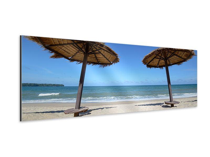 Aluminiumbild Panorama Umbrellas