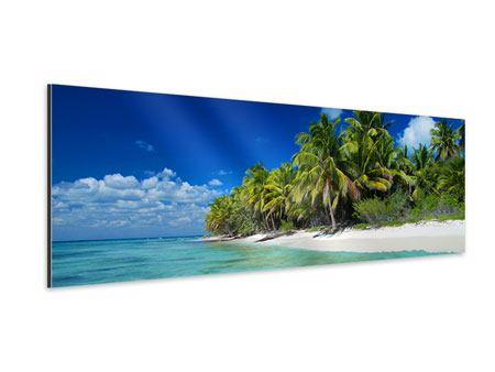 Aluminiumbild Panorama Die Trauminsel