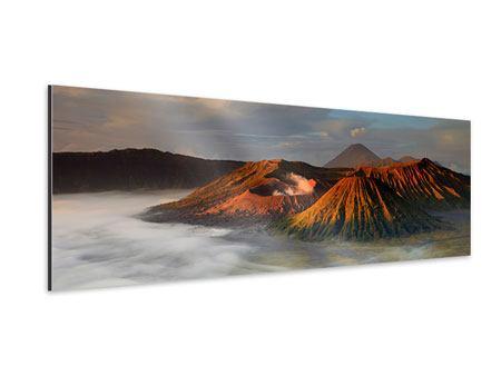Aluminiumbild Panorama Der Bromo Vulkan