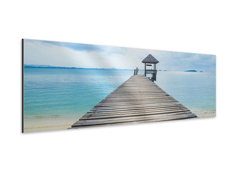 Aluminiumbild Panorama Ozean-Steg