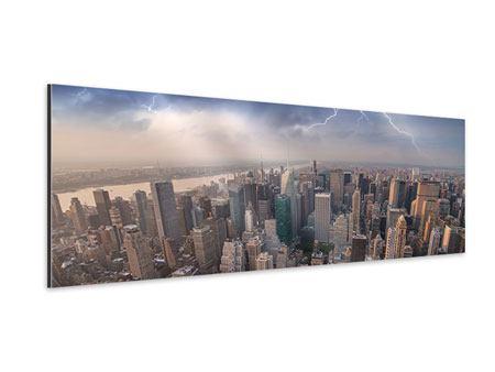 Aluminiumbild Panorama Manhattan