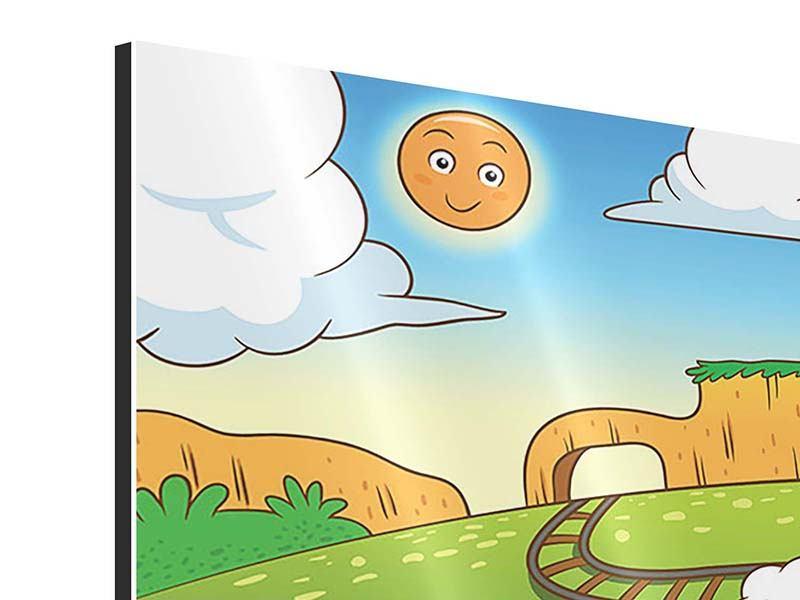 Aluminiumbild Panorama Zug Tiere
