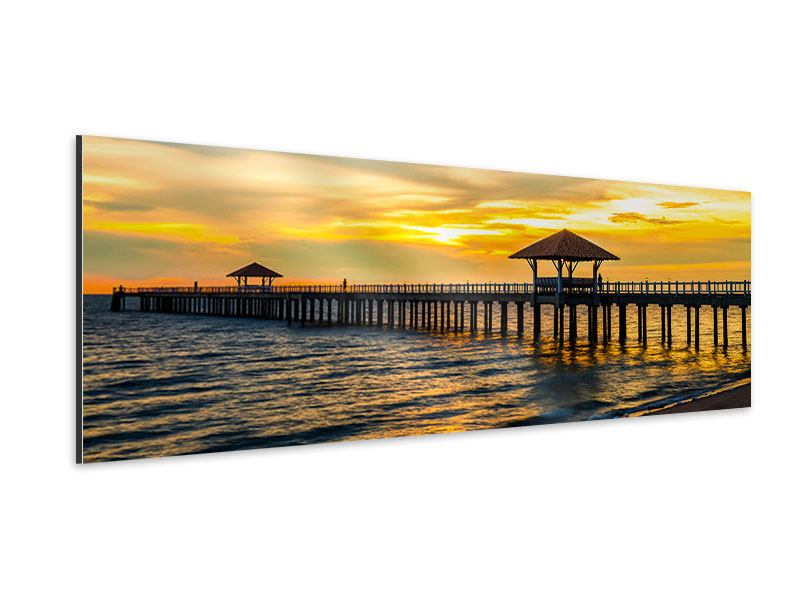 Aluminiumbild Panorama Brücke der Liebe