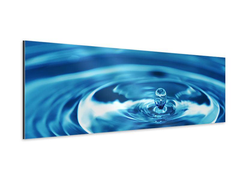 Aluminiumbild Panorama Der Wassertropfen