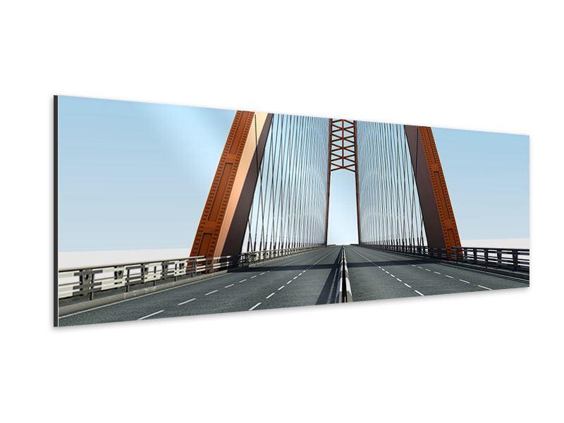 Aluminiumbild Panorama Brückenpanorama
