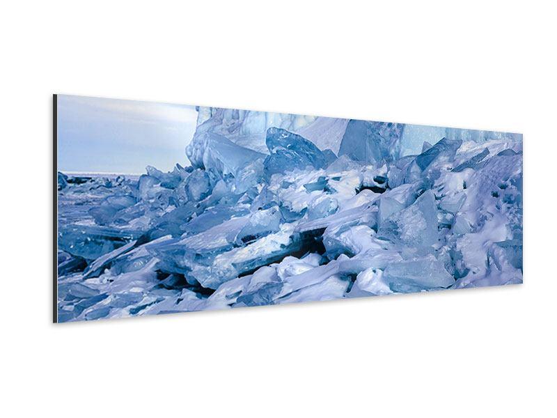 Aluminiumbild Panorama Eislandschaft Baikalsee