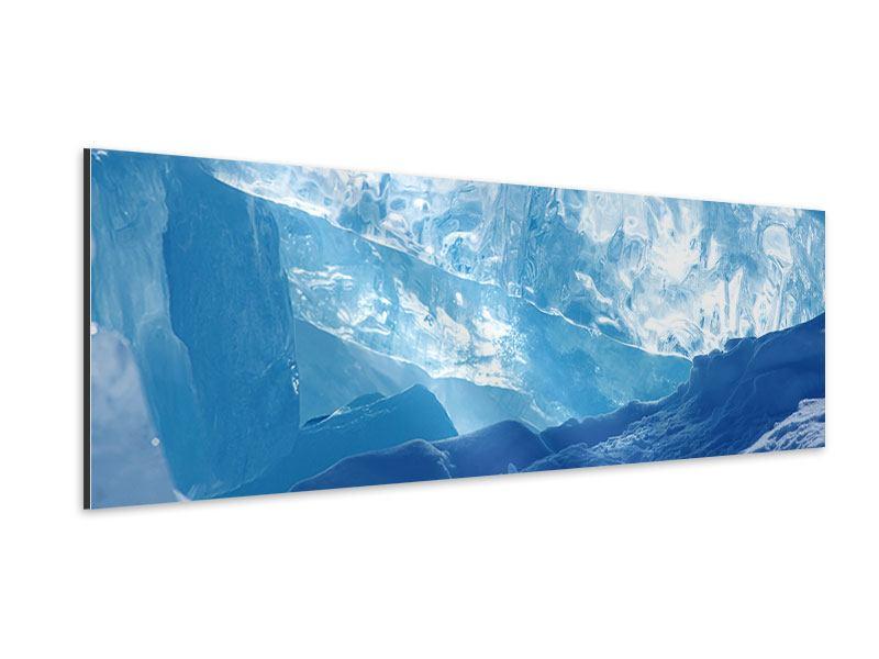 Aluminiumbild Panorama Baikalsee-Eis