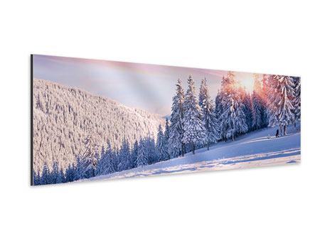 Aluminiumbild Panorama Winterlandschaft