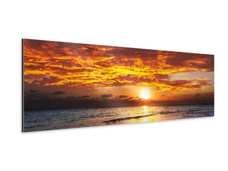 Aluminiumbild Panorama Entspannung am Meer