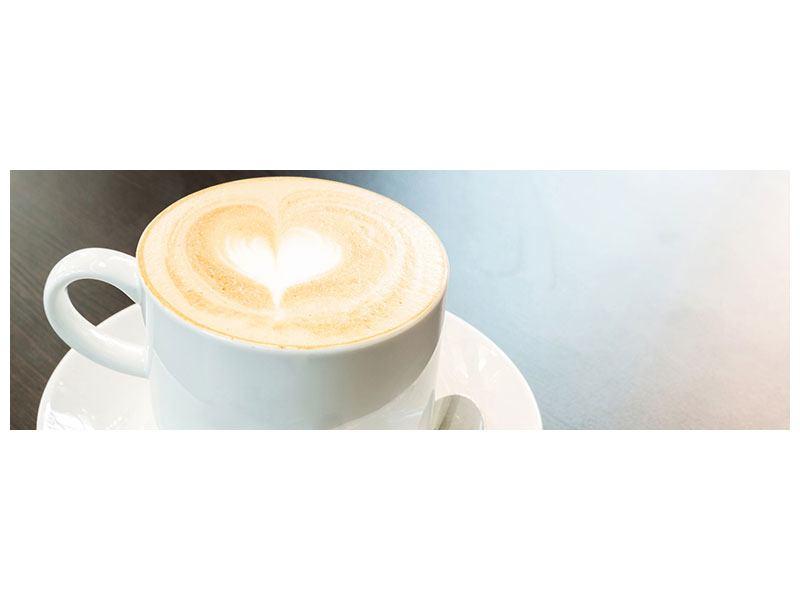 Aluminiumbild Panorama Lieblingskaffee