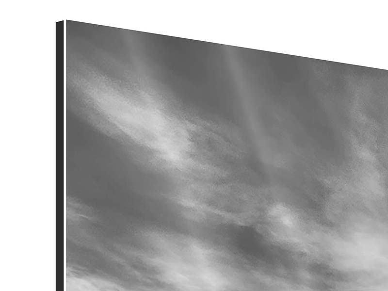 Aluminiumbild Panorama Strandyoga