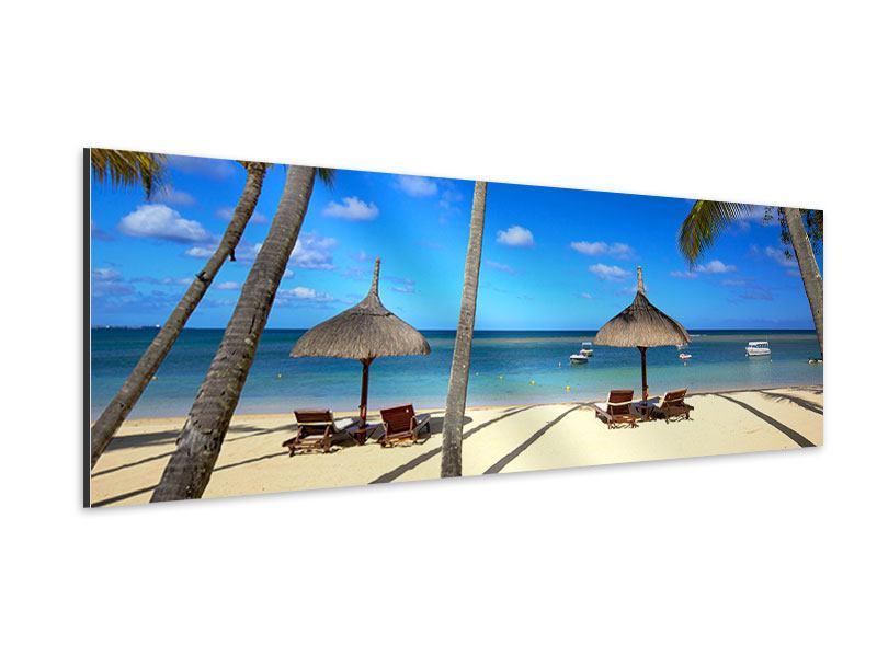 Aluminiumbild Panorama Mauritius