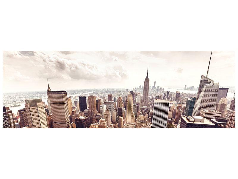 Aluminiumbild Panorama Skyline Über den Dächern Manhattans