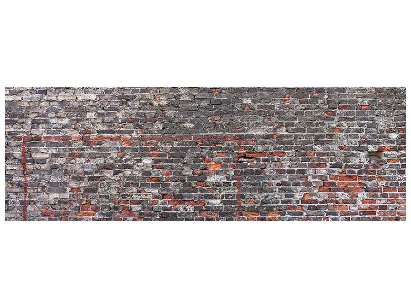 Aluminiumbild Panorama Alte Backsteine