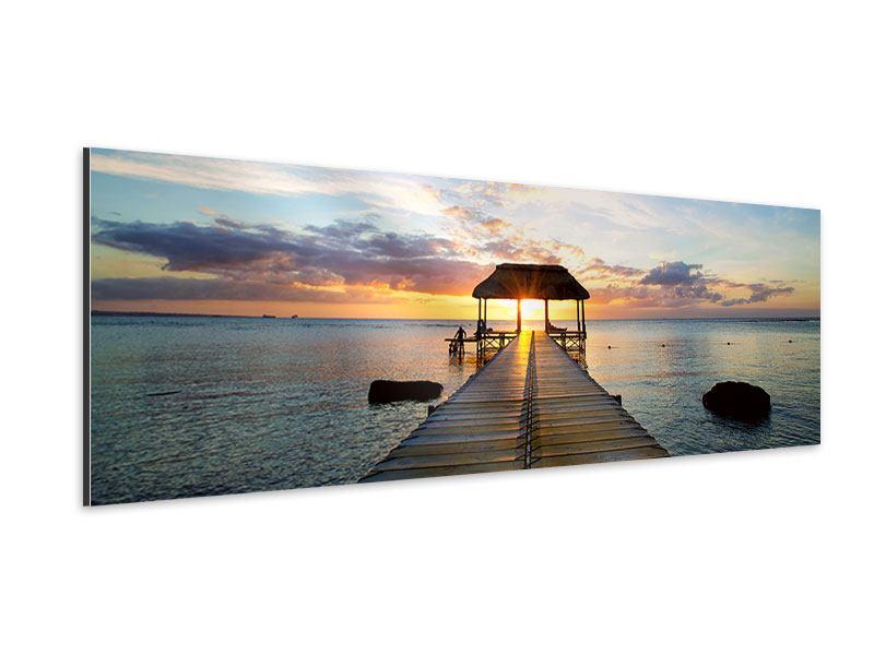 Aluminiumbild Panorama Romantik auf Mauritius