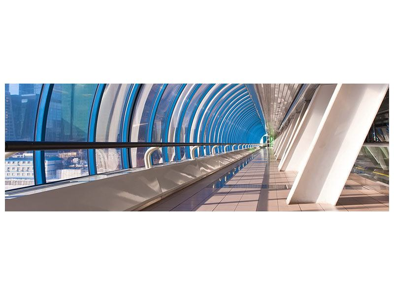 Aluminiumbild Panorama Hypermoderne Brücke