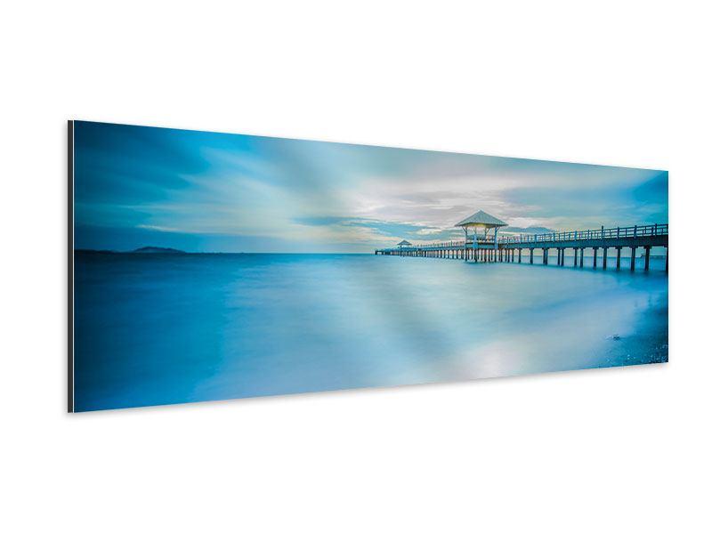 Aluminiumbild Panorama Brückenimpression
