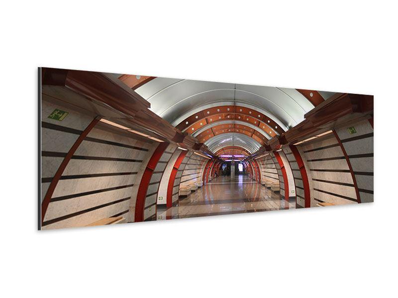 Aluminiumbild Panorama U-Bahn Station