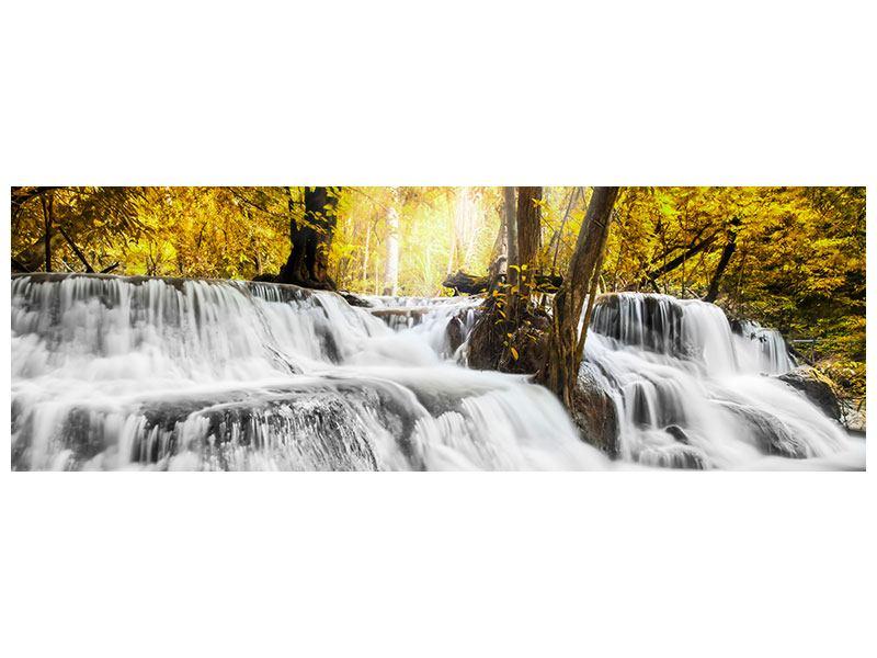 Aluminiumbild Panorama Wasser in Aktion