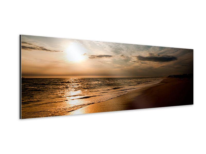Aluminiumbild Panorama Strandspaziergang