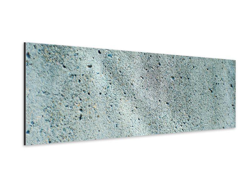 Aluminiumbild Panorama Beton in Grau