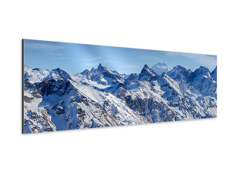 Aluminiumbild Panorama Gipfelspitzen