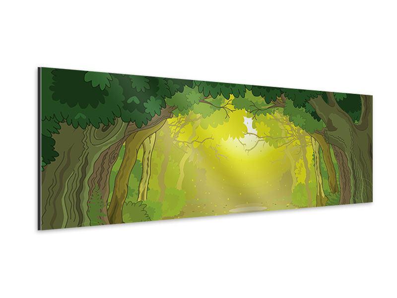 Aluminiumbild Panorama Der Märchenwald
