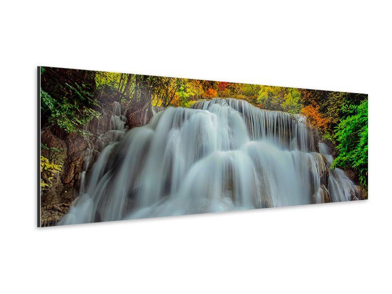 Aluminiumbild Panorama Fallendes Gewässer