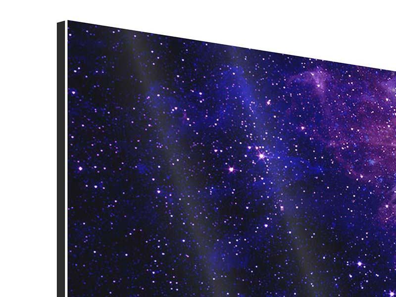 Aluminiumbild Panorama Ein Himmel voll Sterne