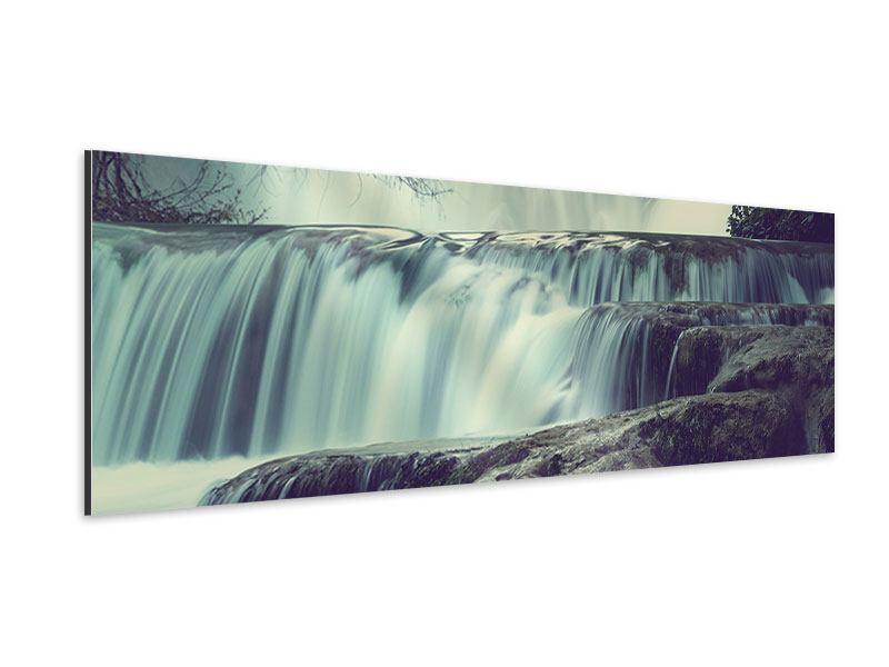 Aluminiumbild Panorama Wasserfall Mexiko