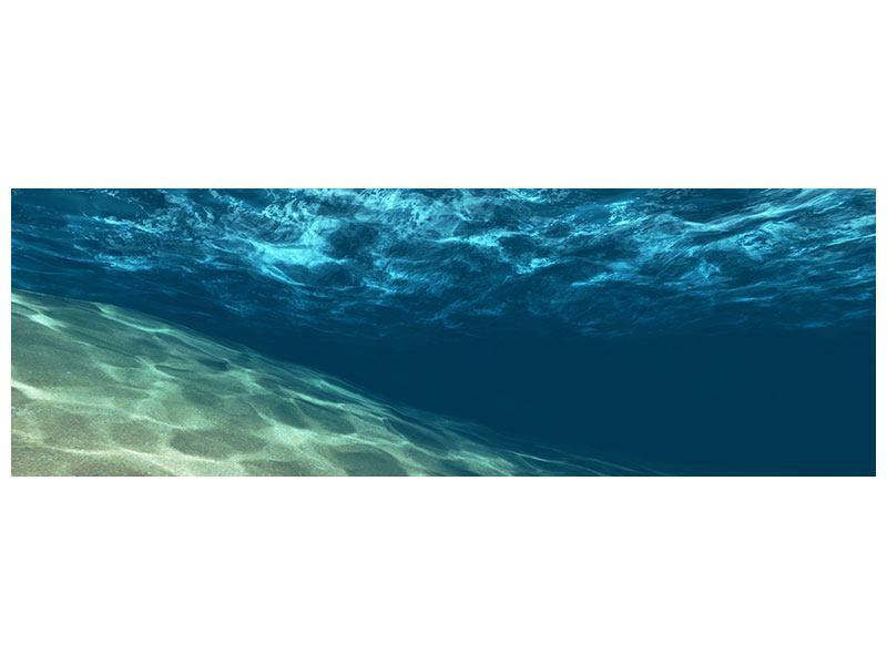 Aluminiumbild Panorama Unter dem Wasser