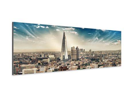 Aluminiumbild Panorama Skyline Über den Dächern von London