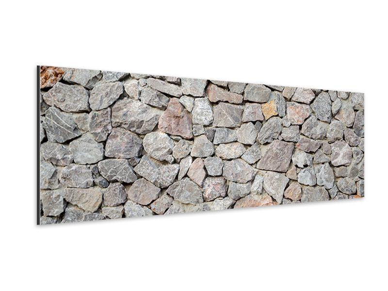 Aluminiumbild Panorama Grunge-Stil Mauer