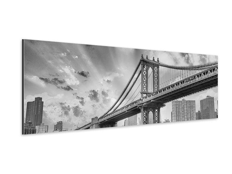 Aluminiumbild Panorama Manhattan Bridge