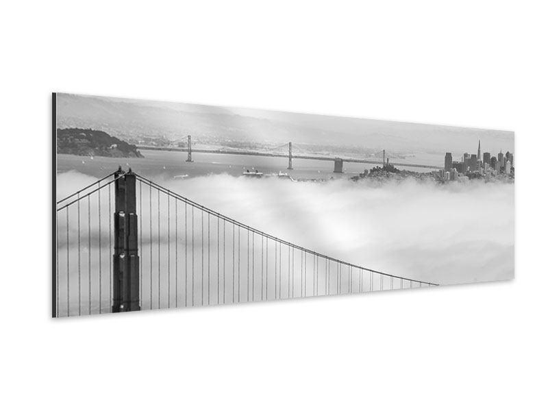 Aluminiumbild Panorama Golden Gate Brücke