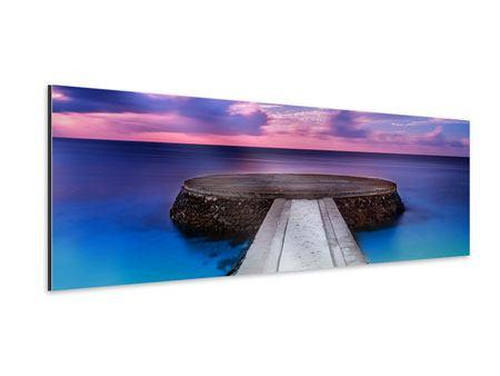 Aluminiumbild Panorama Meditation am Meer