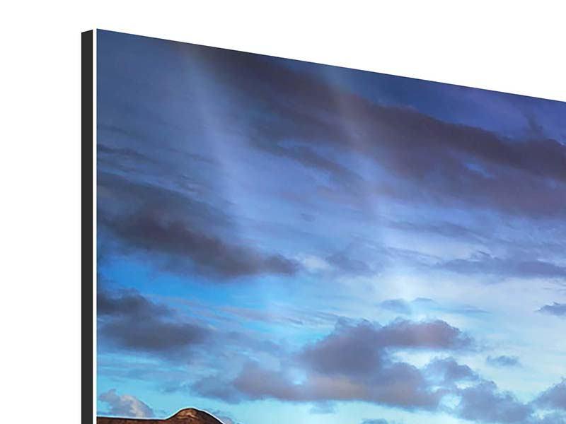 Aluminiumbild Panorama Traumhaus im Wasser