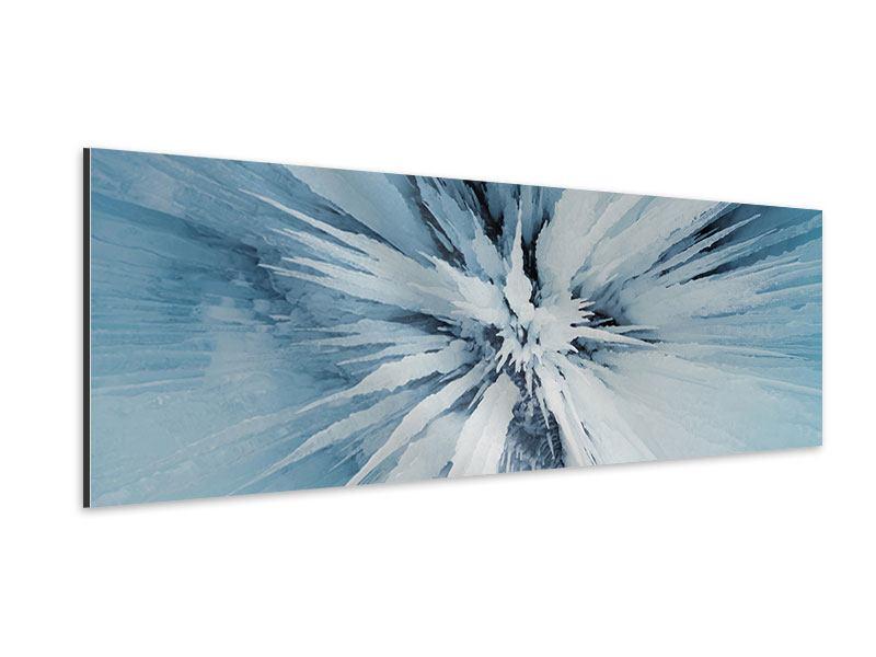 Aluminiumbild Panorama Eiskunst