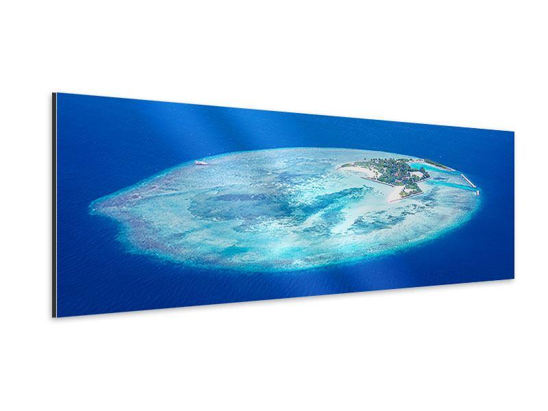 Aluminiumbild Panorama Reif für die Trauminsel