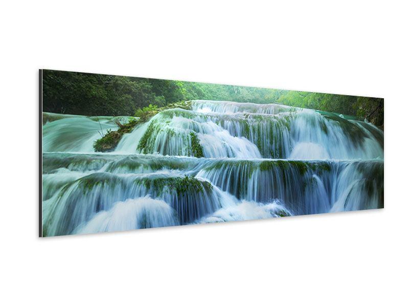 Aluminiumbild Panorama Gigantischer Wasserfall