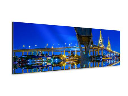 Aluminiumbild Panorama Bhumiboll-Brücke