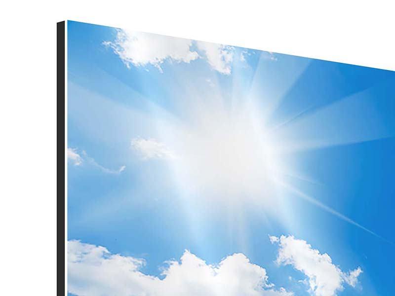 Aluminiumbild 3-teilig Himmelblau